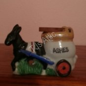 Donkey Pulling Cart of Ashes 3 Inch
