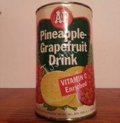 A & P Pineapple-Grapefruit Drink Can