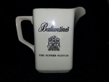Ballantine's Scotch Advertising Pitcher