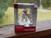 Coca Cola Polar Bear With Gift Ornament Collection