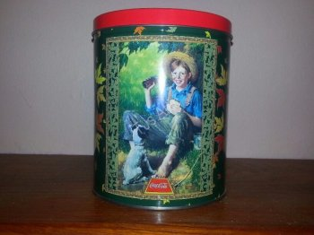 Coca Cola Tin - Boy With Dog