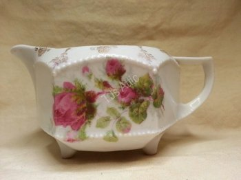 Creamer With Roses and Gold Etching