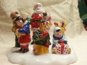 Department 56 Snow Village Santa Comes To Town 1995 LTD