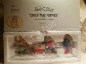 Department 56 Snow Village Christmas Puppies