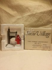 Department 56 Snow Village Fire Hydrant and Mailbox