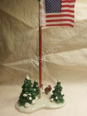 Department 56 Snow Village Flag Pole