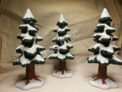 Lemax Dickensvale Porcelain Trees Set of 3
