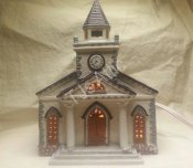 Lemax Dickensvale Porcelain Lighted House - Church 1993