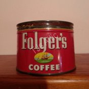 Folgers 1 Pound Coffee Can