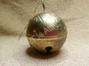 Metal Gold Plated Christmas Ornament