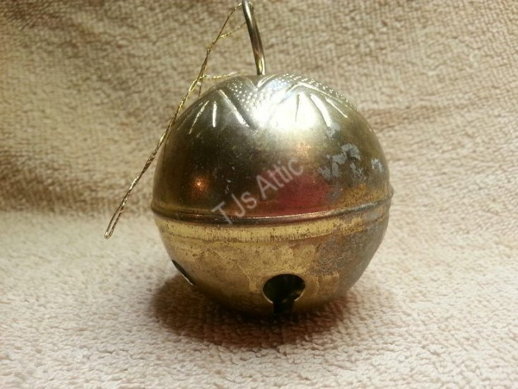 Metal Gold Plated Christmas Ornament - Click Image to Close