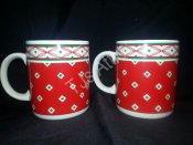 1990 Houston Foods Christmas Mugs