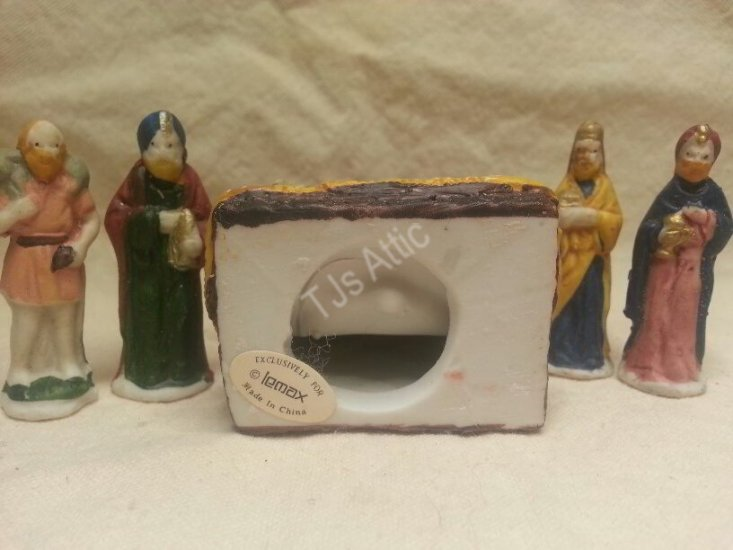 Lemax Dickensvale Porcelain Nativity Set - Click Image to Close