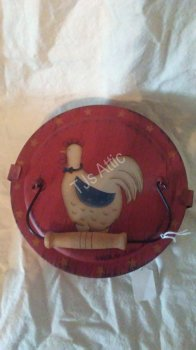 Americana Chicken Motif Spice Container