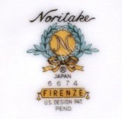 Noritake Firenze Cup Made into Candle