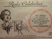 1934 Album of 50 Radio Celebrities Cards