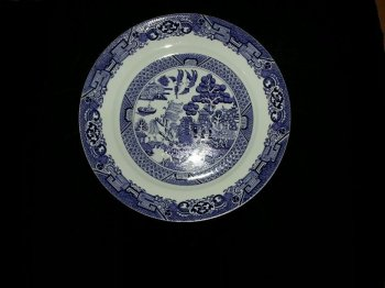 Royal Cuthbertson Blue Willow Large Chop Plate Serving Platter