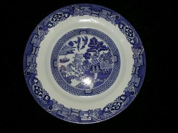 Royal Cuthbertson Blue Willow Dinner Plate