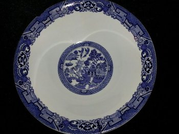 Royal Cuthbertson Blue Willow Large Bowl
