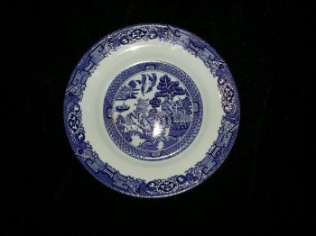 Royal Cuthbertson Blue Willow Salad Plate