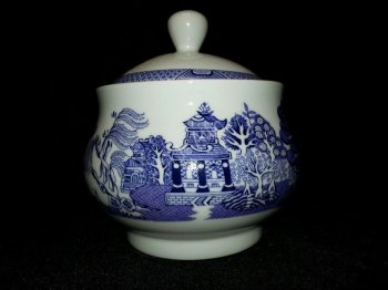 Royal Cuthbertson Blue Willow Sugar Bowl