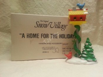 Department 56 Snow Village A Home For The Holidays Birdhouse