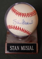 Stan Musial Autographed National League Baseball