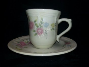 Trisa Stoneware China Cup and Saucer