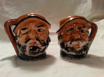 Bearded Sailors Salt and Pepper Shakers