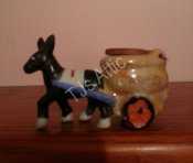 Donkey Pulling Cart of Ashes 5 Inch