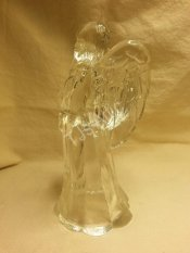 Vintage Glass Angel Candle Holder