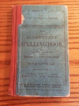 Webster Elementary Spellingbook from 1908